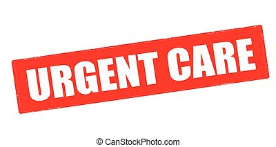 Urgent care - Rubber stamp with text urgent care inside,...