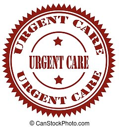 Urgent Care-stamp - Stamp with text Urgent Care,vector...