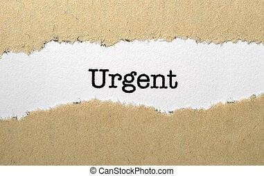 urgent, concept