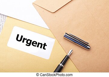 urgent delivery concept with envelope letter or mail and ...