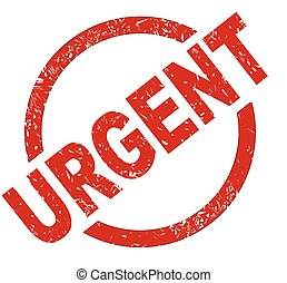 Urgent - An urgent red ink stamp on a white background