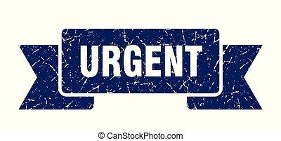 urgent grunge ribbon. urgent sign. urgent banner