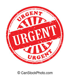 urgent grunge rubber stamp