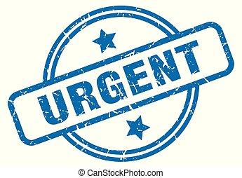 urgent grunge stamp