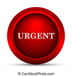 Urgent icon. Internet button on white background.