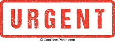Urgent Red Seal Seal Rough Letters Isolated on White. Red Ink Grunge Rubber Stamp Imitation Effect.