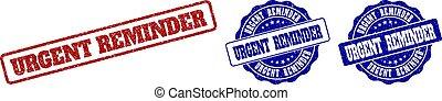 URGENT REMINDER Grunge Stamp Seals