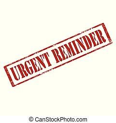 Urgent Reminder-stamp