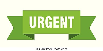 urgent ribbon. urgent isolated sign. urgent banner