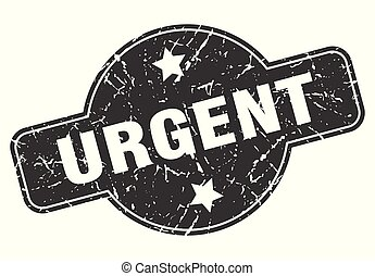 urgent round grunge isolated stamp