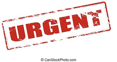 Urgent - Rubber stamp with word urgent inside, vector...