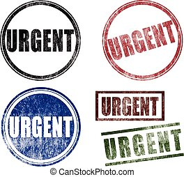 Urgent Rubber Stamps Seals (Vector)