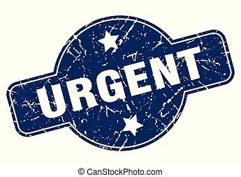 urgent sign - urgent vintage round isolated stamp