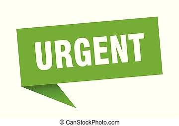 urgent speech bubble. urgent sign. urgent banner