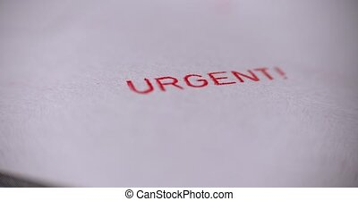 Urgent Stamp closeup