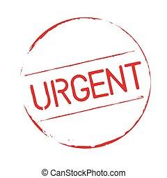 urgent, stamp., grunge, rouges, texte