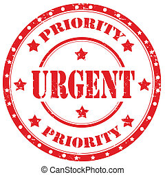 Urgent-stamp - Grunge rubber stamp with text Urgent,vector...