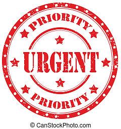 Urgent-stamp - Grunge rubber stamp with text Urgent,vector...