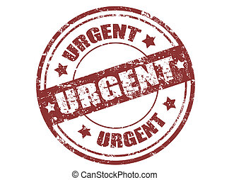 Urgent stamp - Grunge rubber stamp with the word urgent...