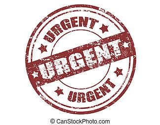 Urgent stamp - Grunge rubber stamp with the word urgent...