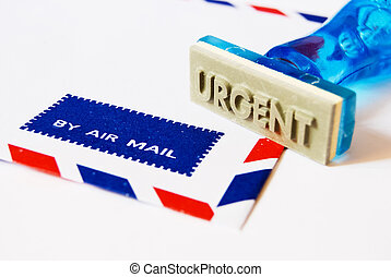 urgent stamp on air mail