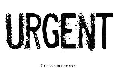 urgent stamp on white