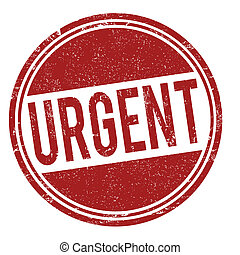 Urgent stamp - Urgent grunge rubber stamp on white, vector...