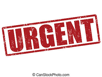Urgent stamp - Urgent red grunge office stamp on white,...