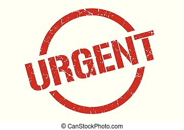 urgent stamp - urgent red round stamp