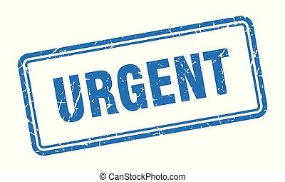 urgent stamp. urgent square grunge sign. urgent