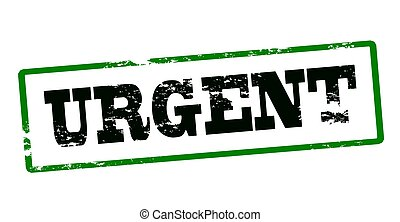 Urgent - Stamp with word urgent inside, vector illustration