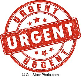 Urgent vector stamp isolated sign on white background