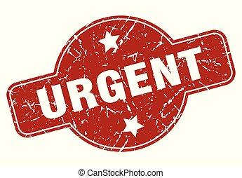 urgent vintage stamp. urgent sign