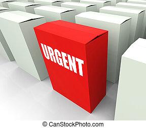 urgente, caja, refers, a, urgencia, prioridad, y, crítico