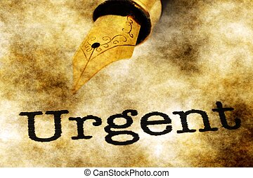 urgente, conceito