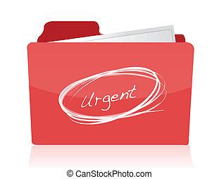 urgente, documentos, conceito