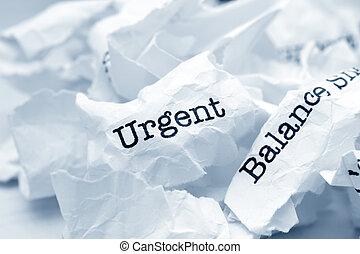 urgente, equilíbrio