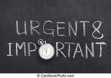 urgente, importante