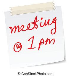 urgente, reunión