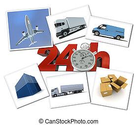 urgente, transporte de mercadería