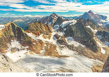 Uri Alps panorama in Switzerland