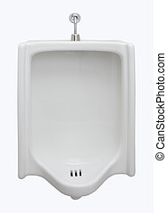 urinal in restroom front view