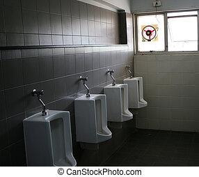 urinal white in a public
