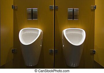 Urinals - two urinals in a public restroom