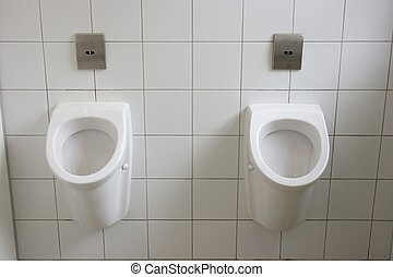 Urinals - Two urinals in a toilet