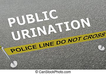 urination, concept, public