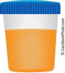 urine, monde médical, alysis., examination.