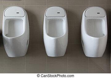 urinoir, blanc, mur