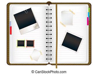 urklippsalbum, dagbok