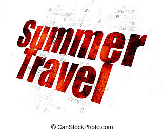 urlaub, concept:, sommer, reise, auf, digitaler hintergrund
